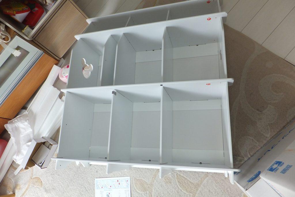 DWE 白木 棚 組み立て