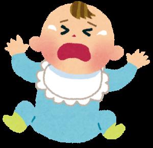 後追いで泣く赤ちゃん