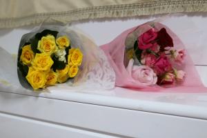 発表会,花束,黄色,ピンク