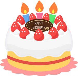 バースデーケーキ,誕生日,ケーキ,かわいい,ディズニー英語