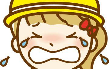 泣く,園児,幼稚園,入園