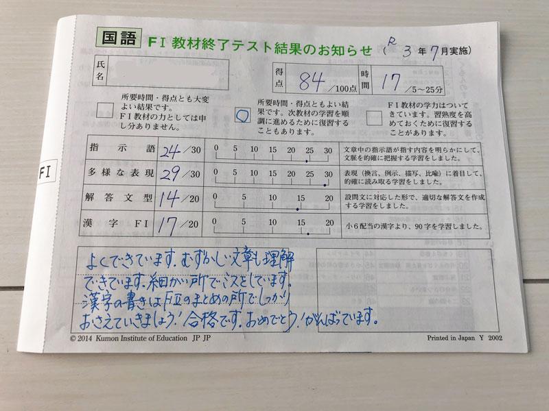 公文,kumon,小6,ドリル,教材,先取り学習,F1,読解力